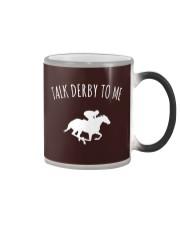 Talk Derby To Me Horse Racing T-Shirt Color Changing Mug thumbnail