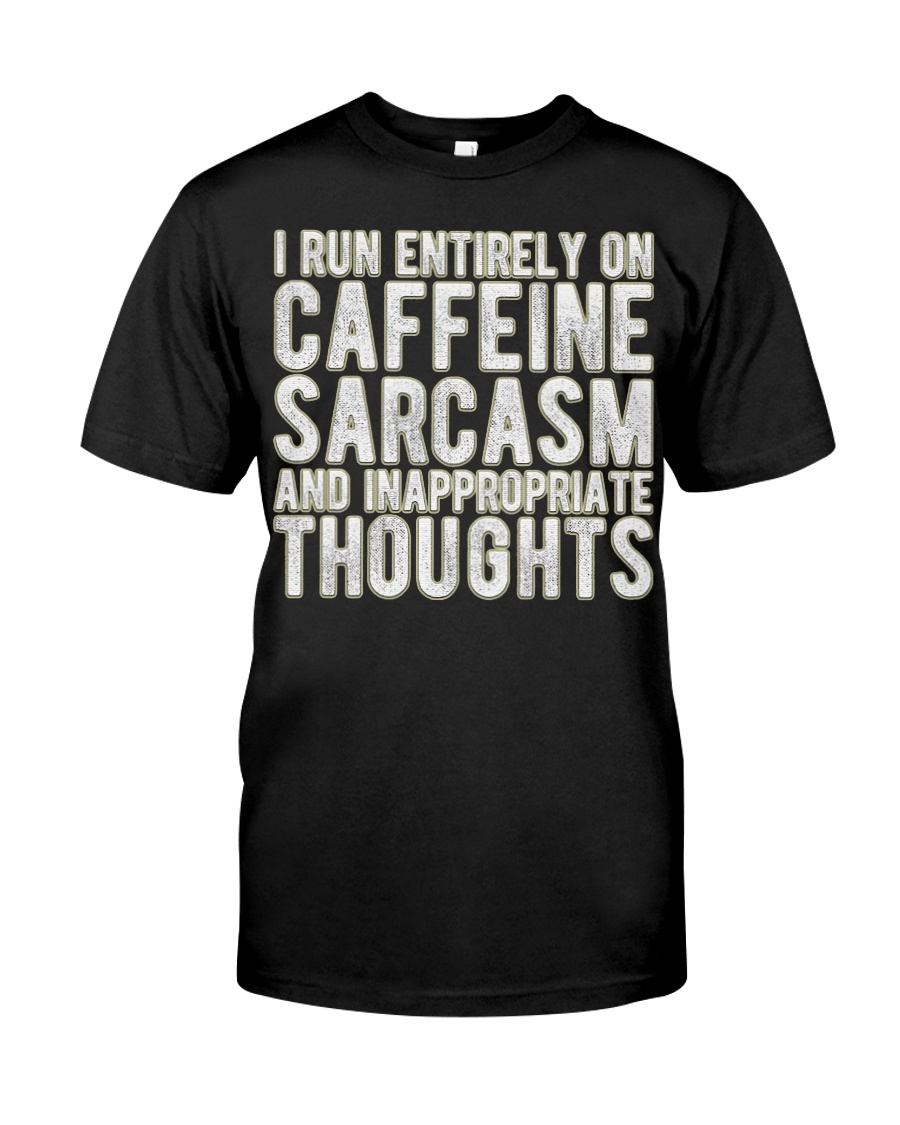 Gifts For Coffee Drinkers Funny Profanity Humor  Classic T-Shirt
