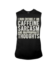 Gifts For Coffee Drinkers Funny Profanity Humor  Sleeveless Tee thumbnail