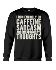 Gifts For Coffee Drinkers Funny Profanity Humor  Crewneck Sweatshirt thumbnail