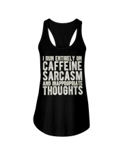 Gifts For Coffee Drinkers Funny Profanity Humor  Ladies Flowy Tank thumbnail