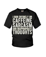 Gifts For Coffee Drinkers Funny Profanity Humor  Youth T-Shirt thumbnail