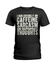 Gifts For Coffee Drinkers Funny Profanity Humor  Ladies T-Shirt thumbnail