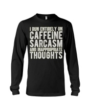 Gifts For Coffee Drinkers Funny Profanity Humor  Long Sleeve Tee thumbnail