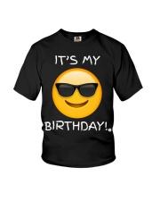 Birthday Emoji T Shirt It's My Birthday Sunglasses Youth T-Shirt thumbnail