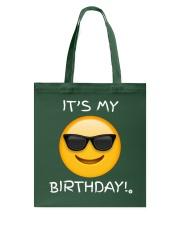 Birthday Emoji T Shirt It's My Birthday Sunglasses Tote Bag thumbnail