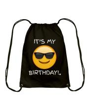 Birthday Emoji T Shirt It's My Birthday Sunglasses Drawstring Bag thumbnail
