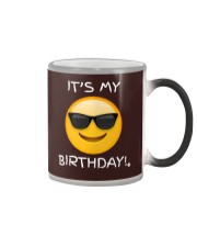 Birthday Emoji T Shirt It's My Birthday Sunglasses Color Changing Mug thumbnail