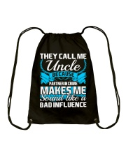 They Call Me Uncle Partner In Crime Funny Tshirt Drawstring Bag thumbnail