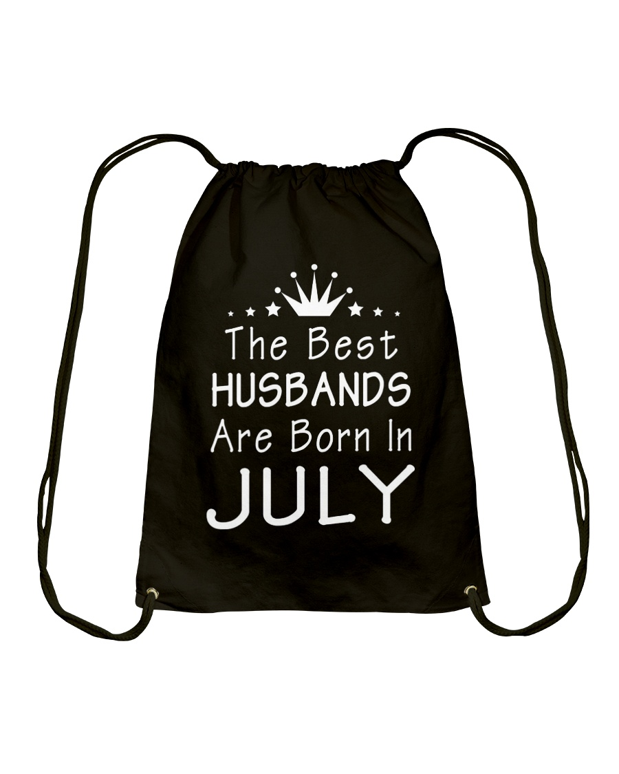 The Best Husbands Are Born In July T-Shirt Drawstring Bag
