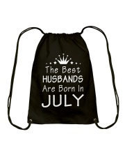 The Best Husbands Are Born In July T-Shirt Drawstring Bag front