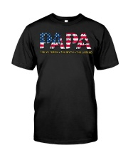 Mens Mens Papa The Veteran The Myth The Legend  Classic T-Shirt front