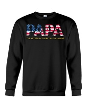 Mens Mens Papa The Veteran The Myth The Legend  Crewneck Sweatshirt thumbnail