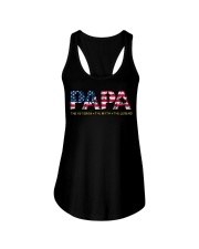 Mens Mens Papa The Veteran The Myth The Legend  Ladies Flowy Tank tile
