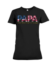 Mens Mens Papa The Veteran The Myth The Legend  Premium Fit Ladies Tee thumbnail
