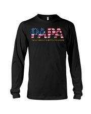 Mens Mens Papa The Veteran The Myth The Legend  Long Sleeve Tee tile