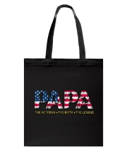 Mens Mens Papa The Veteran The Myth The Legend  Tote Bag tile