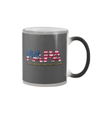 Mens Mens Papa The Veteran The Myth The Legend  Color Changing Mug tile