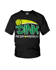 Dink Responsibly Pickleball T-Shirt Pickleball Lov Youth T-Shirt thumbnail