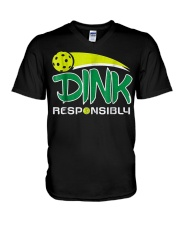 Dink Responsibly Pickleball T-Shirt Pickleball Lov V-Neck T-Shirt thumbnail