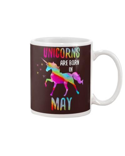 Unicorns Are Born In May Birthday Shirt