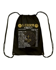Libra Facts T-Shirt Libra Awesome Horoscope Drawstring Bag thumbnail