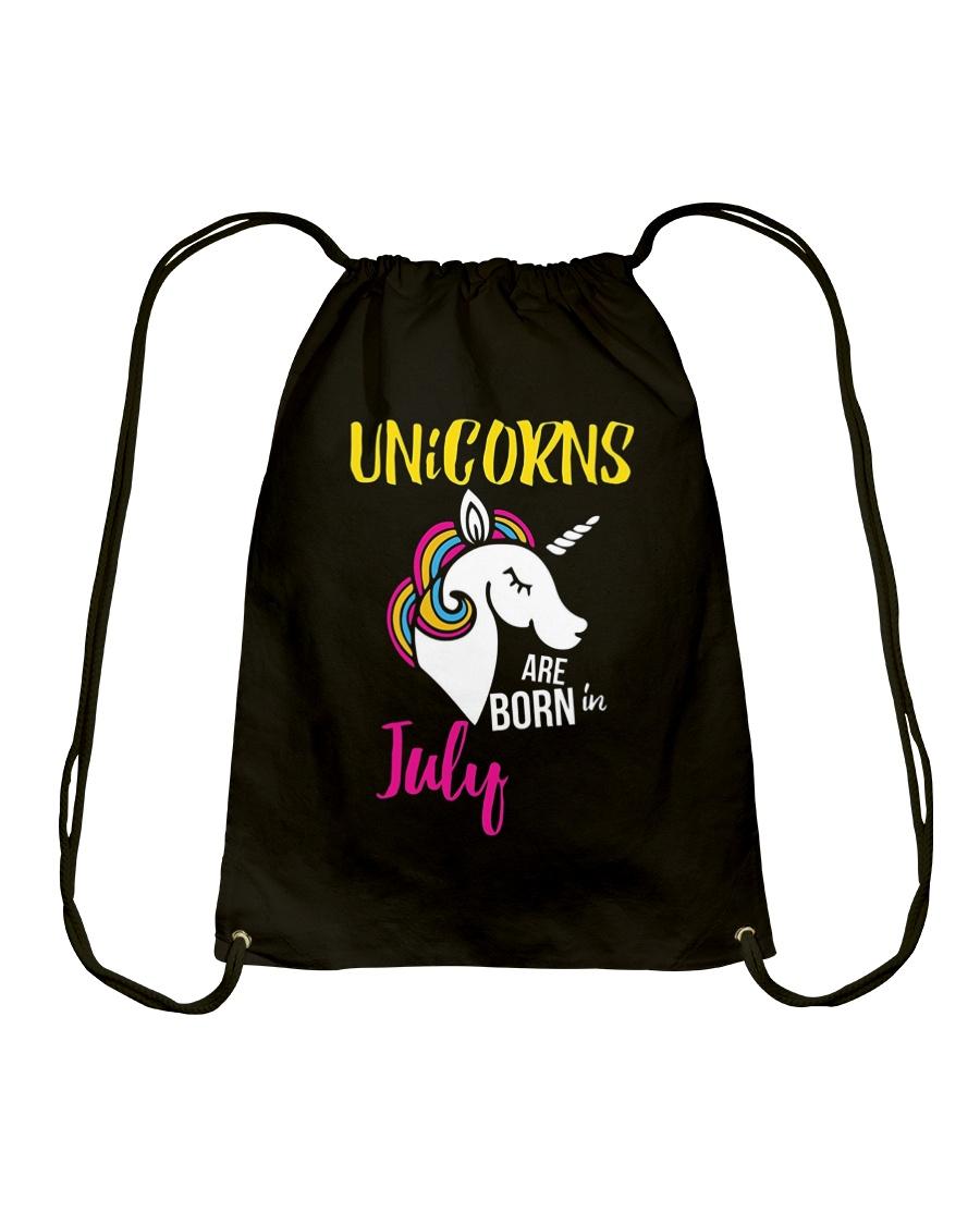 Unicorns Are Born In July Unicorn Birthday Gift Te Drawstring Bag