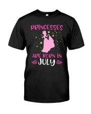 Princesses Are Born in July Shirt Birthday Girl T- Classic T-Shirt thumbnail