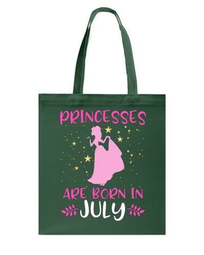 Princesses Are Born in July Shirt Birthday Girl T-