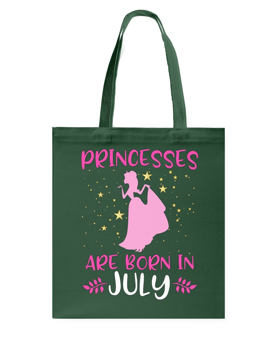 Princesses Are Born in July Shirt Birthday Girl T- Tote Bag