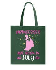 Princesses Are Born in July Shirt Birthday Girl T- Tote Bag front