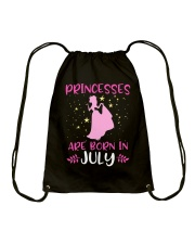 Princesses Are Born in July Shirt Birthday Girl T- Drawstring Bag thumbnail