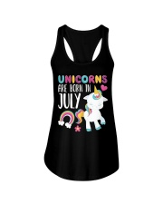 Unicorns Are Born in July Novelty T-Shirt Ladies Flowy Tank thumbnail