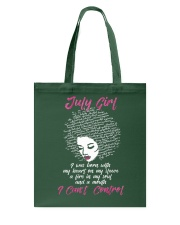 I'm a July Girl Shirt Funny Birthday T-Shirt for W Tote Bag front