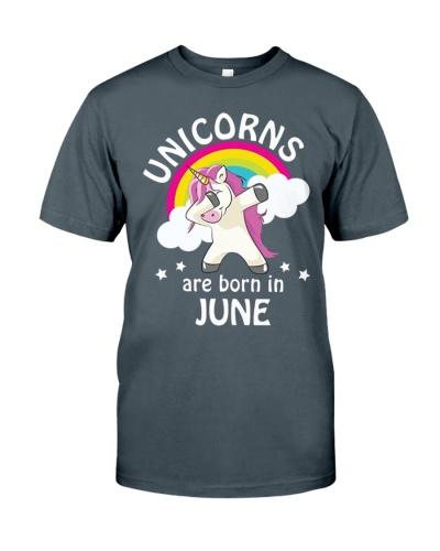 Unicorns Are Born In June Birthday Dabbing T-Shirt