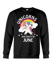 Unicorns Are Born In June Birthday Dabbing T-Shirt Crewneck Sweatshirt thumbnail