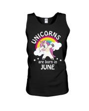 Unicorns Are Born In June Birthday Dabbing T-Shirt Unisex Tank thumbnail