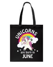 Unicorns Are Born In June Birthday Dabbing T-Shirt Tote Bag thumbnail