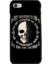 He Whispered Back I am the Storm - Skull Phone Case thumbnail