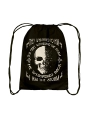 He Whispered Back I am the Storm - Skull Drawstring Bag thumbnail