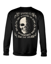 He Whispered Back I am the Storm - Skull Crewneck Sweatshirt thumbnail