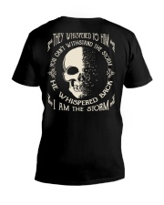 He Whispered Back I am the Storm - Skull V-Neck T-Shirt thumbnail