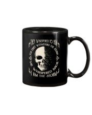 He Whispered Back I am the Storm - Skull Mug thumbnail