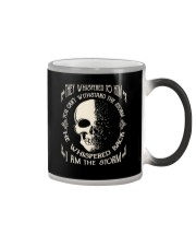 He Whispered Back I am the Storm - Skull Color Changing Mug thumbnail