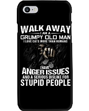 Walk Away I am a Grumpy Old Man I Love Cats Phone Case tile