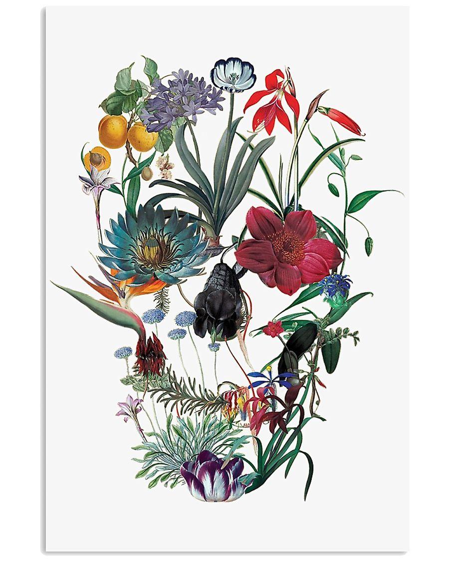 Flower skull 24x36 Poster