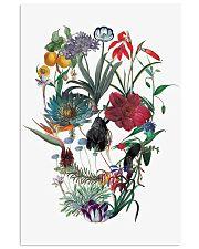 Flower skull 24x36 Poster front
