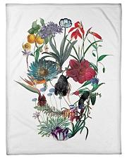"""Flower skull Small Fleece Blanket - 30"""" x 40"""" thumbnail"""