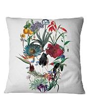 Flower skull Square Pillowcase thumbnail