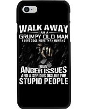 Walk Away I am a Grumpy Old Man I Love Dogs Phone Case thumbnail